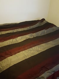 black, red, and white striped bed sheet Layton, 84041