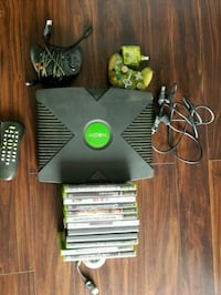 Original Xbox with controllers and games.  Wilson