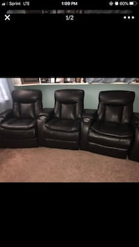 3 seat electric reclining theatre seats  Farragut, 37934