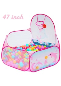 Kids Ball Pit Tent with Basketball Hoop 1148 mi