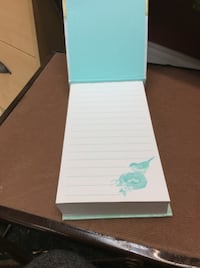 White and teal floral lined paper Kawartha Lakes, K9V 1E0