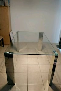 rectangular glass top table with black metal base Innisfil, L9S 2B1