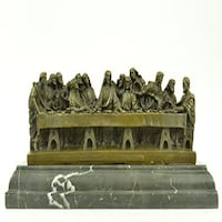 The Last Supper Bronze Sculpture (7X14 Inches) Sterling