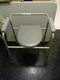 gray and white commode chair Chicago, 60616