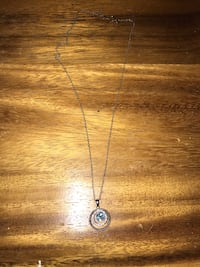 Blue topaz silver chain necklace (original $99) Spruce Grove, T7X 0H3