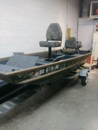 12 ft Jon boat, trailer and Nissan four stroke mot Manassas, 20110