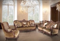 Brand new traditional sofa and love seat with 1 year warranty from Italia. It's hand made Toronto, M2J