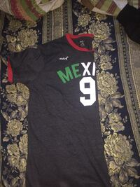 black and white Mexico 9 jersey shirt
