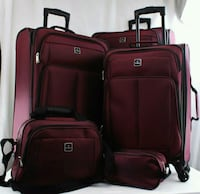 Burgundy 5pieces set Luggage Houston, 77036