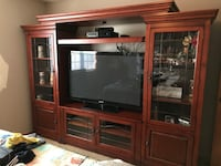 Solid Wood Entertainment Center. OBO