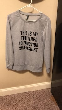 Hoodie Size 1x fits like a M-L. Never wanted Worn Hewitt, 76643