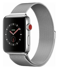 Apple Watch Series 3 (GPS + Cellular), 42mm Stainless Steel Case w/ Milanese Loop Dumfries, 22026