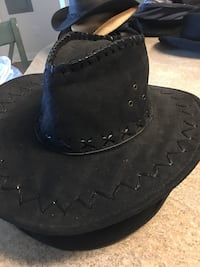 Cowboy Outlaw Hat Size L Large High Quality Form Fitting wire Brim Fredericksburg, 22401