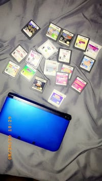 Nintendo 3DS XL blue + games included