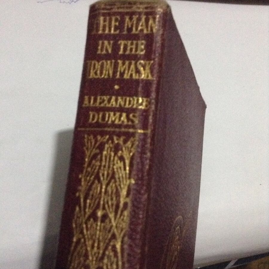 Antique Hardcover pocket book: The Man in the Iron Mask - Alexandre Dumas