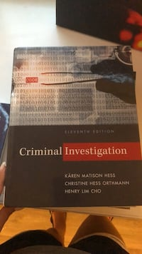 Criminal Investigation textbook