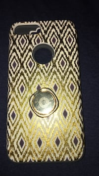 white and gold-colored iPhone 7 Plus/8 Plus case