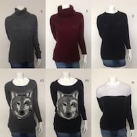 6 sweaters for sale  Burnaby, V5C