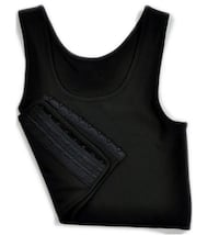 Black tank top chest binder/compressor