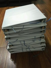 "$3 each 3"" white binders, has lots of pockets Toronto, M9W 2A3"