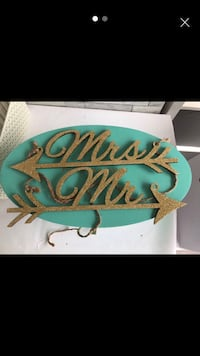 Rose Gold Glitter Mr and Mrs chair signs wedding Derby, DE21 6LN