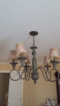 Black and white uplight chandelier Laval, H7X 4G4