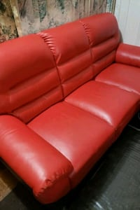 Red leather sofa Brooklyn, 11226