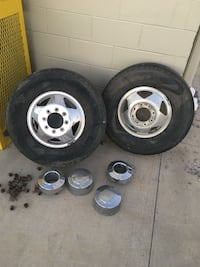Ford F-350 front wheels 40 mi