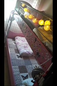 Cute & Pink Bunk Bed (Child) Oslo, 0596
