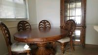 oval brown wooden dining table Bladensburg, 20710