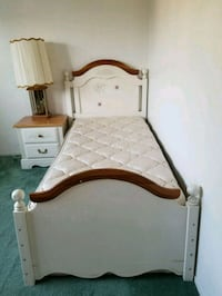 Matress + box frame + bed frame + lamp +nightstand Fremont, 94536