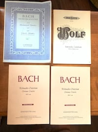 Johann Sebastian Bach & 1926 Hugo Wolf Vocal Scores - REDUCED