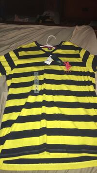 Black and yellow stripe polo shirt Donna, 78537