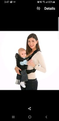 Baby carrier on the back and front