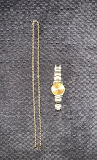 14kt gold chain with dust bag and free watch Brampton, L6P 1S8