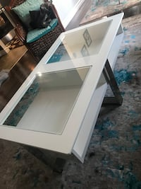 White wooden framed glass top coffee table Guelph, N1E 7A6