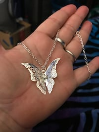 Beautiful sliver plated butterfly necklace  San Bernardino, 92407