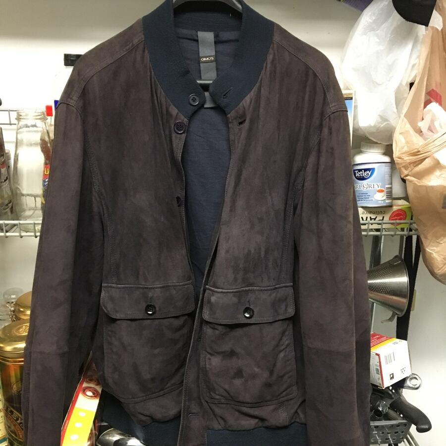 Gimo's men's brown suede jacket sz L