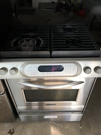 gray and black gas range oven Mississauga, L5M 3Y2