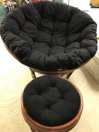 Papasan Chair and Ottoman (Almost new) Gurnee, 60031