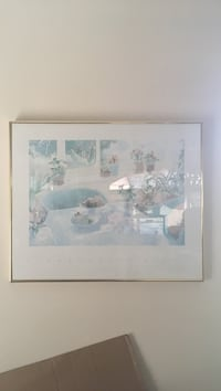 white and blue house painting with white wooden frame Surrey, V3R 5V8