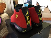 "Air Jordan 14 Retro ""Ferrari 14"" Peabody, 01960"
