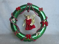 "Table Christmas Angel Reath 10"" Burlington"