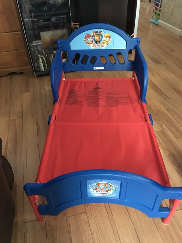 Paw Patrol toddler bed and mattress like new