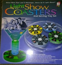 NEW Light show coasters and serving tray set Chicago Ridge