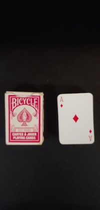 Playing cards miniature deck