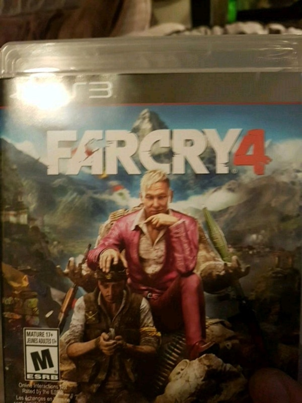 Farcry 4 Sony PS4 game case