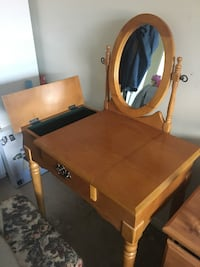 Wooden Vanity furniture with chair