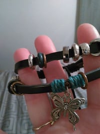New black leather with butterfly and Beads Bedford, 47421