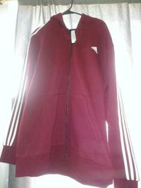 Adidas burgandy zip up Fresno, 93702